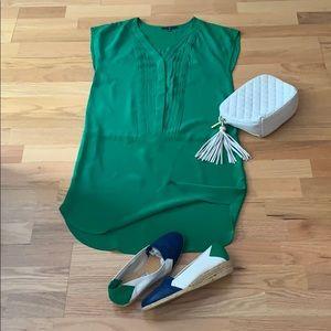 GAP dress tunic Green silk